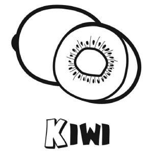 dibujo kiwi con letras